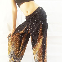 Pants Yoga Pants Harem Pants  Massage pants  Hippie Boho pants  Women Pants Baggy Pants Beach Summer
