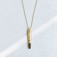 Lovebullets Gold-Metal Crystal Point Necklace - Urban Outfitters