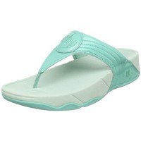 FitFlop Women`s Walkstar 3 Patent Toning Flip Flop,Mint Chip,10 M US