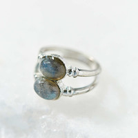 Double Moonstone Ring - Urban Outfitters
