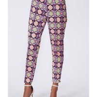 Missguided - Alannah Jacquard Cigarette Trousers