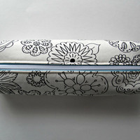 Fabric Boxed Pencil, Craft or Cosmetics Case, in Color Me In