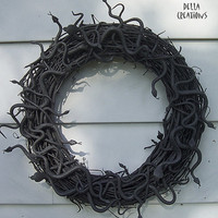 Halloween Medusa Wreath -- Snakes, Snakes, and More Snakes . . . .