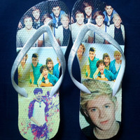 Custom One Direction Flip Flops
