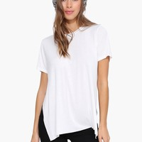 Split Up Basic Tee Shirt