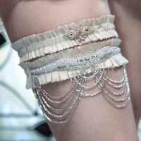 BLUSHING Q U E E N Garter Set Special by MiaVonMinksWedding