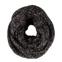 Mixed Infinity Scarf - Black - Black / One