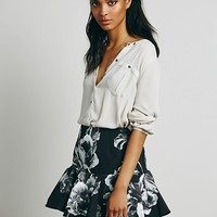 Keepsake the Label Womens Better Off Alone Skirt - Mono Bloom