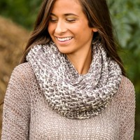 Mountain Music Infinity Scarf-Smoke