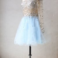 Sexy New Short Mini One-shoulder Homecoming Cocktail Dresses Prom Party Ballgown
