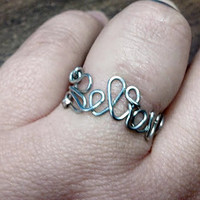 Sterling Silver Word Rings