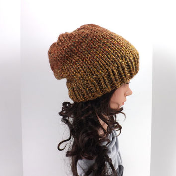 Knitted Chunky Beanie Hat /AL PASO AUTUMN/, Unisex Knitted Beanie, Fall/Winter Hat, Fashion Accessory 2014