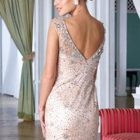 Sexy & Chic Deep Back Custom Made Dress C1283