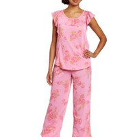 Carole Hochman Women`s Rosewalk Garden Mother/Daughter Pajama