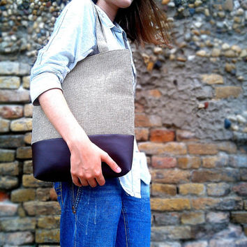 Messenger Bag - Leather Bag - Canvas Bag - Handbag