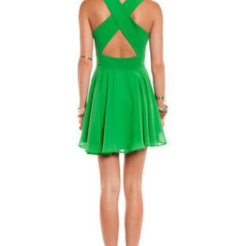 Twirl Around Cross Back Dress ~ TOBI