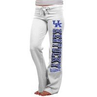 Kentucky Wildcats Ladies Frosh Fleece Sweatpants - White