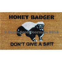 Honey Badger Don&#x27;t Give a S--t- Door mat outdoor houseware