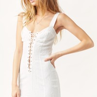 SHE'S A KNOCKOUT PLUNGING SLIP DRESS
