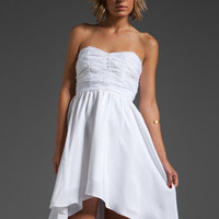 PENCEY Lace Hi-Lo Dress in White at Revolve Clothing - Free Shipping!