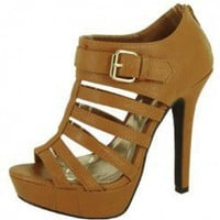 BROWN MULTI STRAPS BOOTIE @ KiwiLook fashion