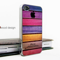 silvery iphone 4 case iphone 4s case iphone 4 cover Iphone colorized wood texture image unique design printing