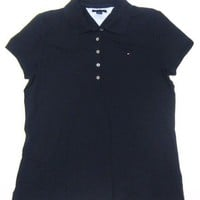 Tommy Hilfiger Women`s Polo Shirt in Solid Navy Blue (Ladies)