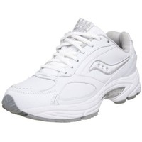 Saucony Women`s Grid Omni Walker Walking Shoe,White/Silver,9.5 M