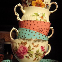 Vintage tea cups.