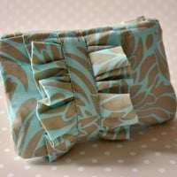 Coin Purse Ruffle Mini Blue And Nud.. on Luulla