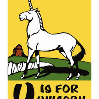 U is for Unicorn Posters by Charles Buckles Falls at AllPosters.com