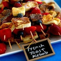 french toast kebob