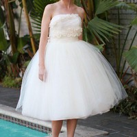 Dolly Couture Milan Short Wedding Dress | DollyCouture.com