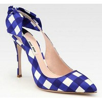 Miu Miu Taffeta Point Toe Bow Pumps224.00