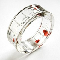 Resin Bangle - EKG Love bracelet