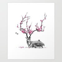 Blooming Art Print by TJ Zhang | Society6