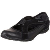 Skechers Women`s Discreet Slip-On,Black,5.5 M US