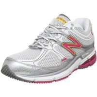 New Balance Women`s W780 Running Shoe,White/Pink,8 B US