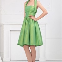 Halter green Homecoming Dresses HCD020