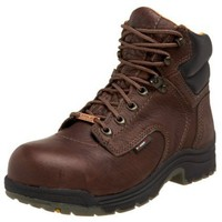 "Timberland Pro Women`s Titan 6"" Waterproof Safety Toe Boot,Dark Mocha,5.5 W"