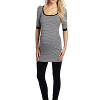 Jules & Jim Women`s Elbow Sleeve Scoopneck Body Dress