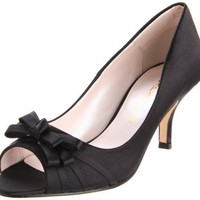 Caparros Women`s Violetta Peep-Toe Pump,Black,7.5 M US