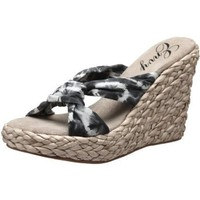 Envy Women`s Angels Open-Toe Espadrille,Grey Tie Dye,8.5 M US