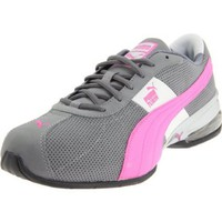 Puma Women`s Cell Turin Cross-Training Shoe,Steel Grey/Phlox Pink,7.5 B US