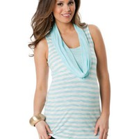 Motherhood Maternity: Sleeveless Drape Neck Drape Maternity T Shirt