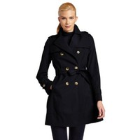 Tommy Hilfiger Women`s Double-Breasted Belted Classic Trench Coat - Midnight (Sizes XS - XL)