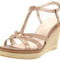 Bandolino Women`s Newest Wedge Sandal,Gold,6.5 M US