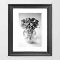 Roses In a Vase[B&W] Framed Art Print by secretgardenphotography [Nicola] | Society6