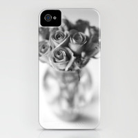 Roses In a Vase[B&W] iPhone Case by secretgardenphotography [Nicola] | Society6