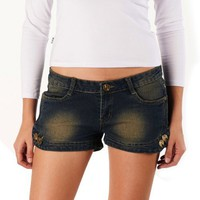 Jessie G. Women`s Low Rise Stud Denim Shorts